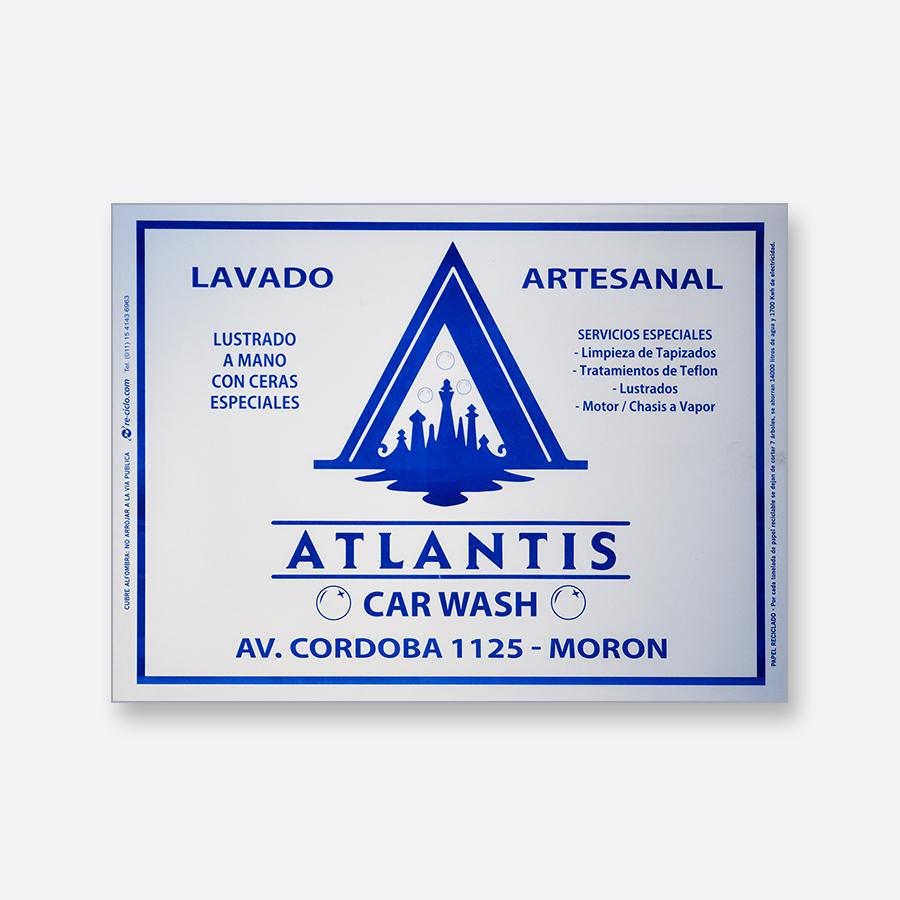 Alfombra de papel blanca - Atlantis