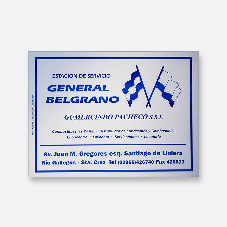 Alfombra de papel blanca - General Belgrano