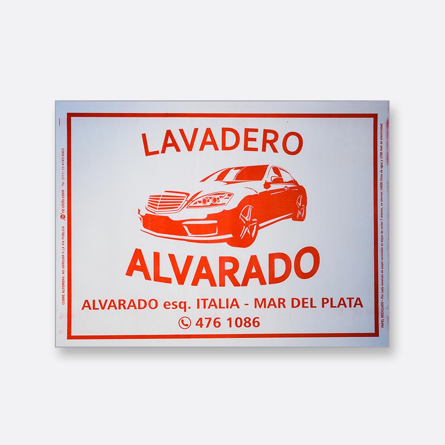 Alfombra de papel blanca - Lavadero Alvarado