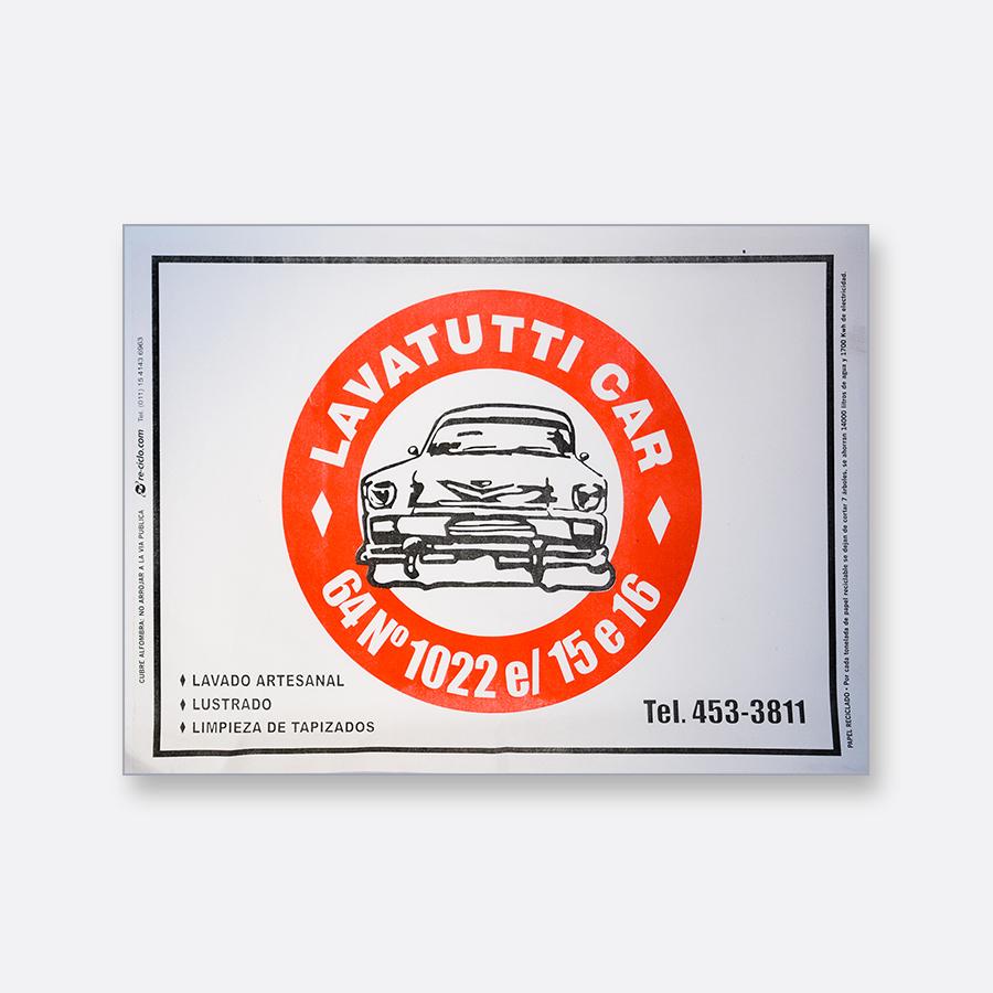 Alfombra de papel blanca - Lavatutti Car