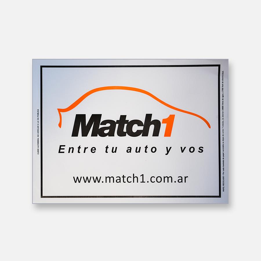 Alfombra de papel blanca - Match 1