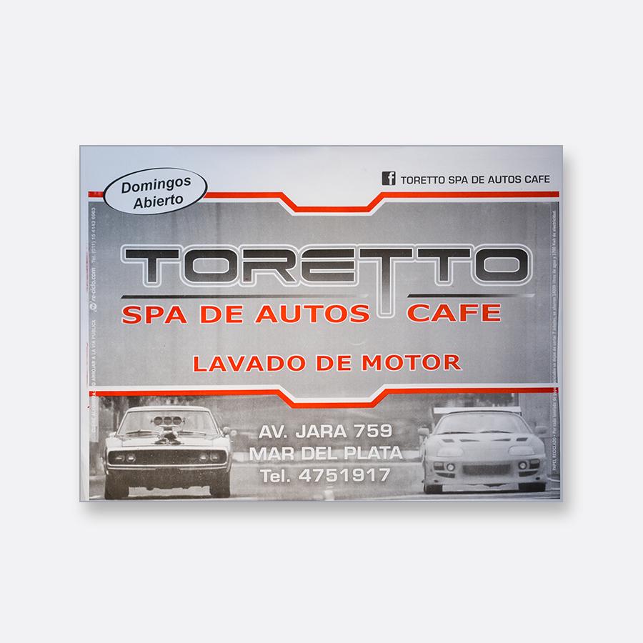 Alfombra de papel blanca - Toretto