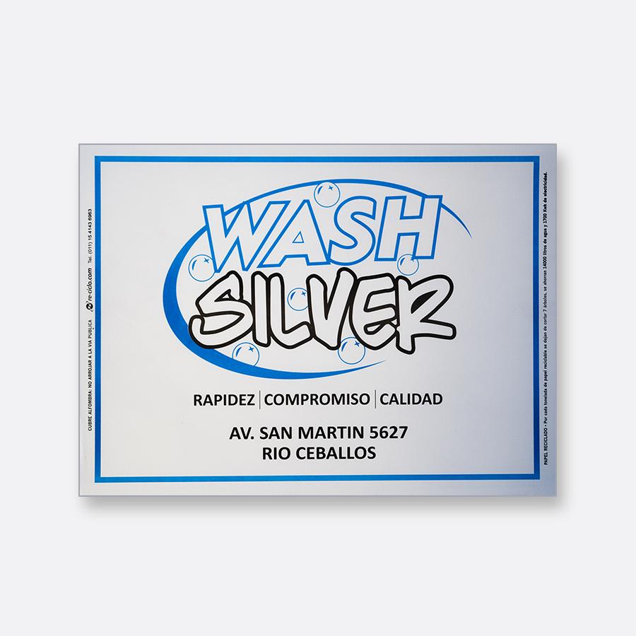 Alfombra de papel blanca - Wash Silver