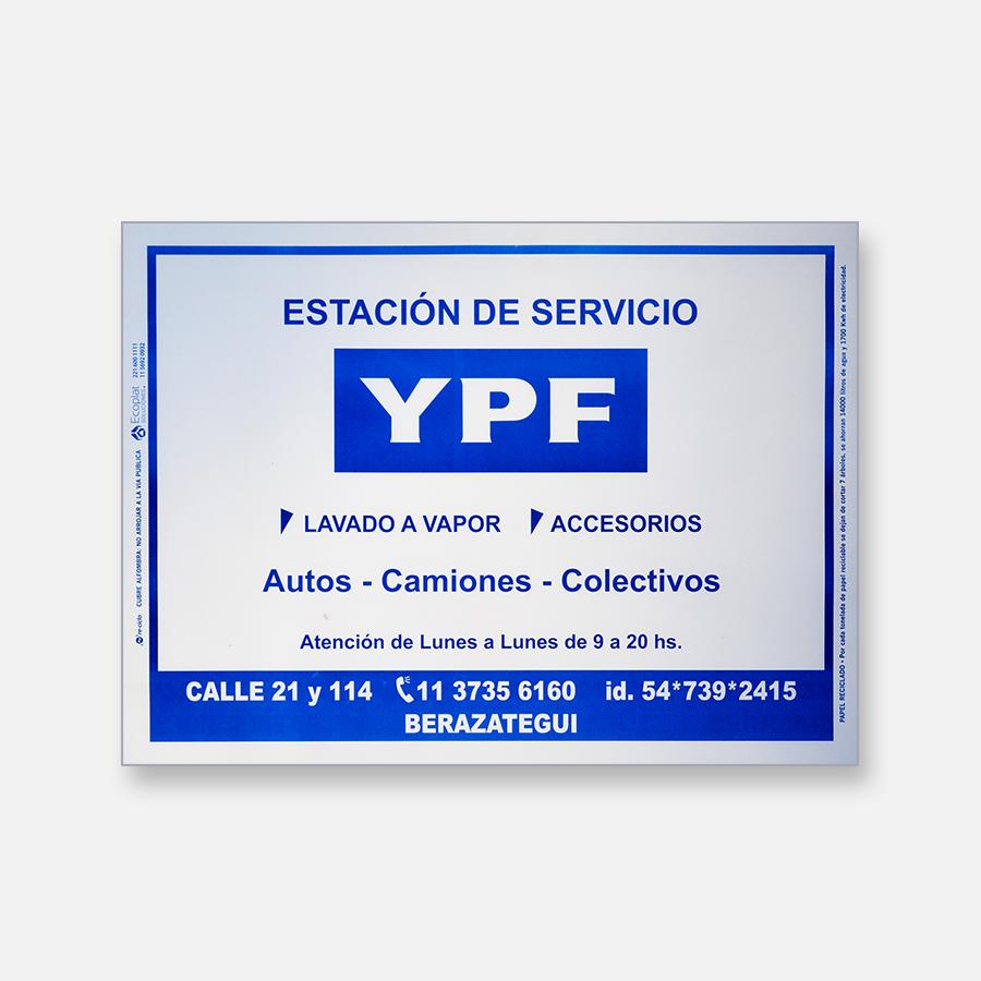 Alfombra de papel blanca - Estación de Servicio YPF