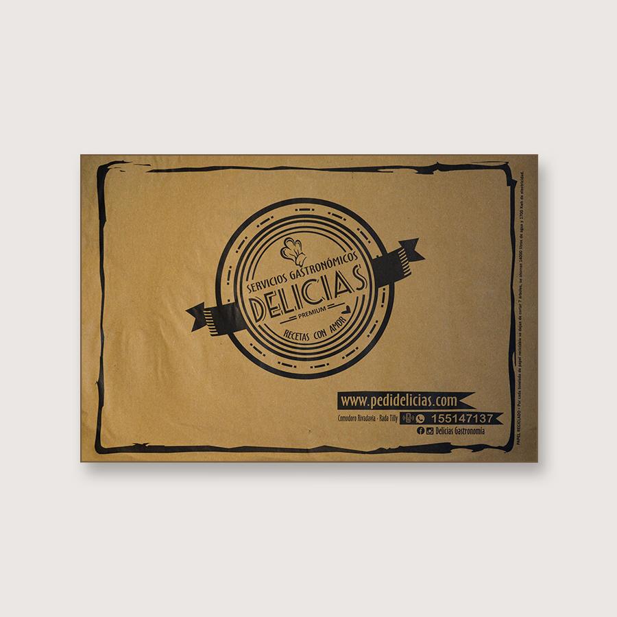 Alfombra de papel kraft - Delicias