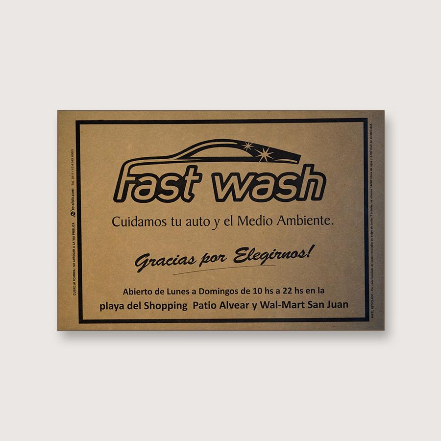 Alfombra de papel kraft - Fast Wash