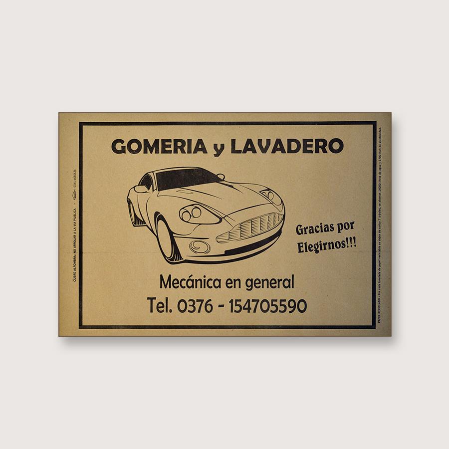 Alfombra de papel kraft - Gomeria y Lavadero