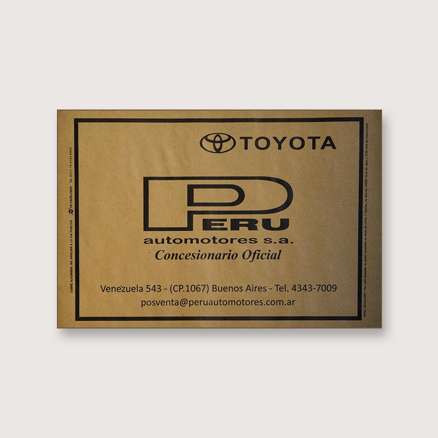 Alfombra de papel kraft - Peru Automotores