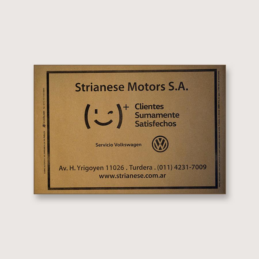 Alfombra de papel kraft - Strianese Motors S.A.