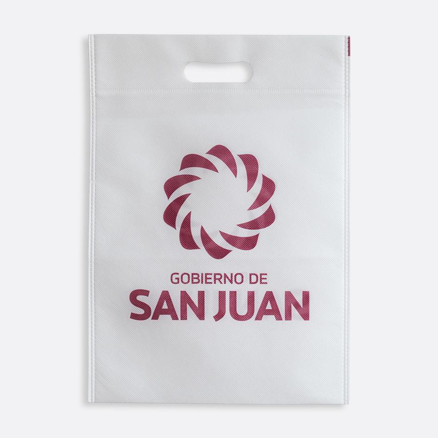 Bolsas ecológicas con troquel riñón - Gobierno de San Juan