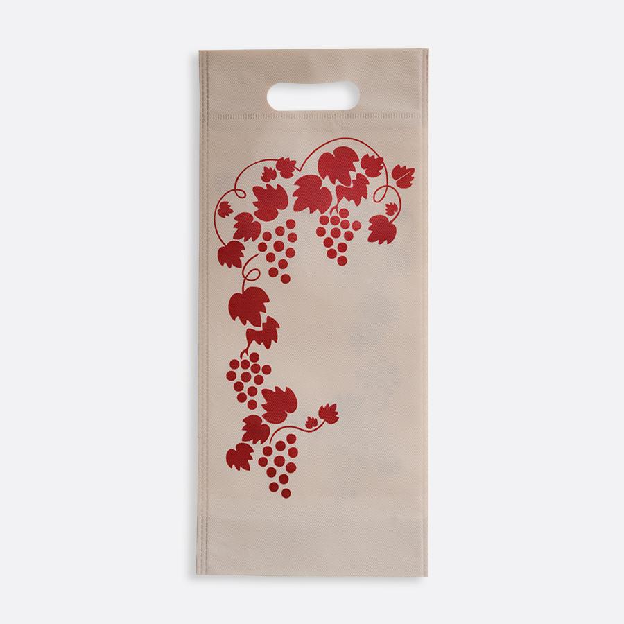 Bolsas ecológicas para botella de vino y uvas
