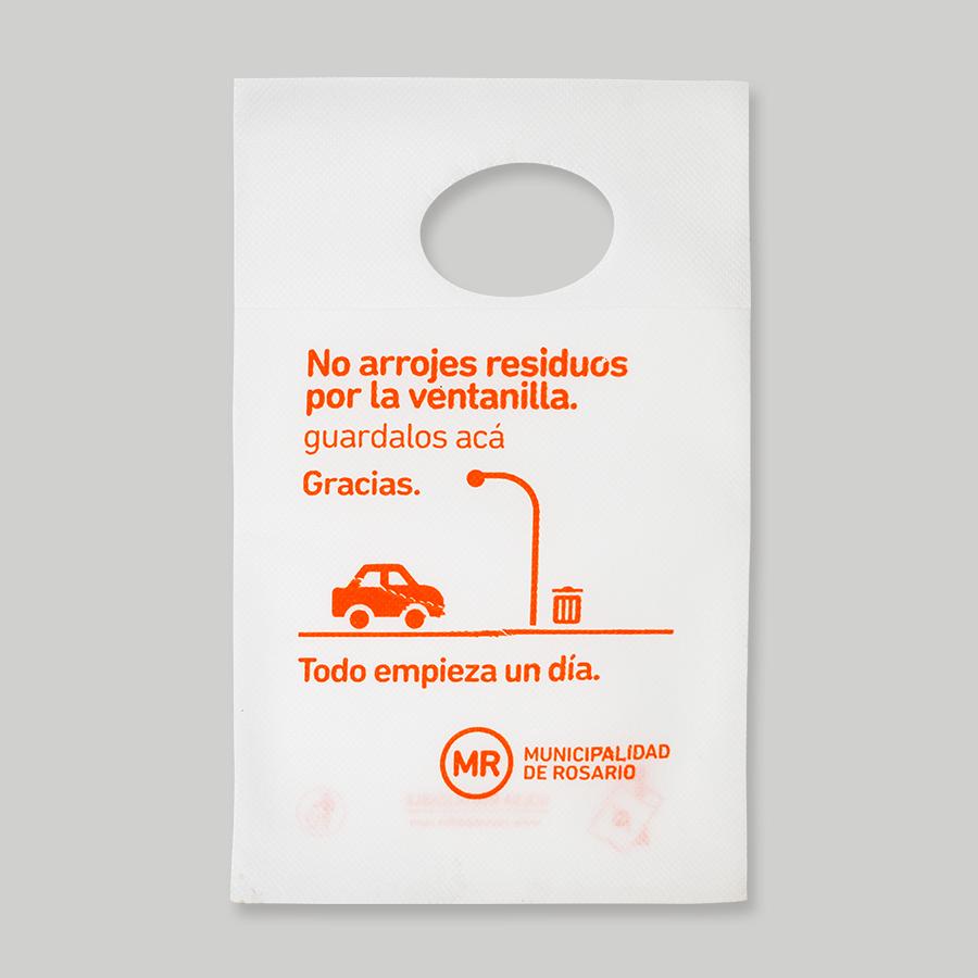 Bolsas ecológicas para el auto - MR Municipalidad de Rosario