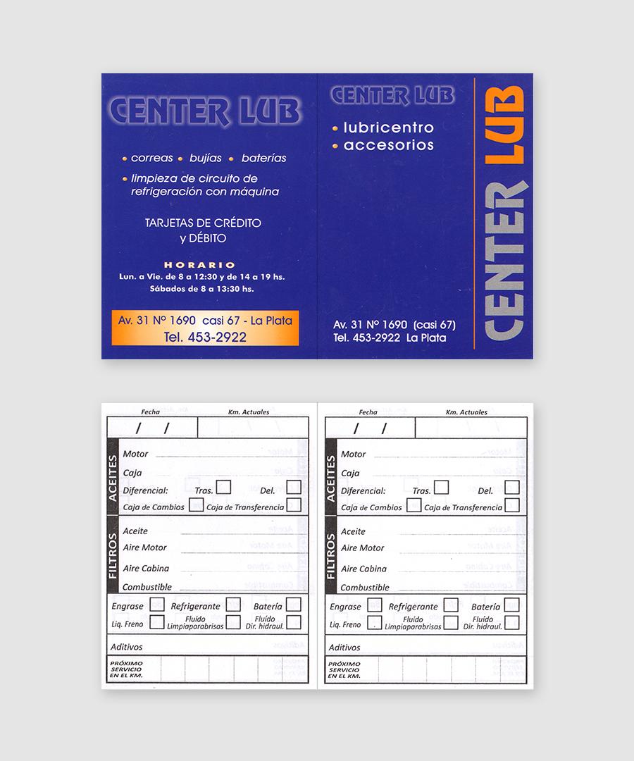 Tarjetas para Cambio de Aceite Librito - Center LUB
