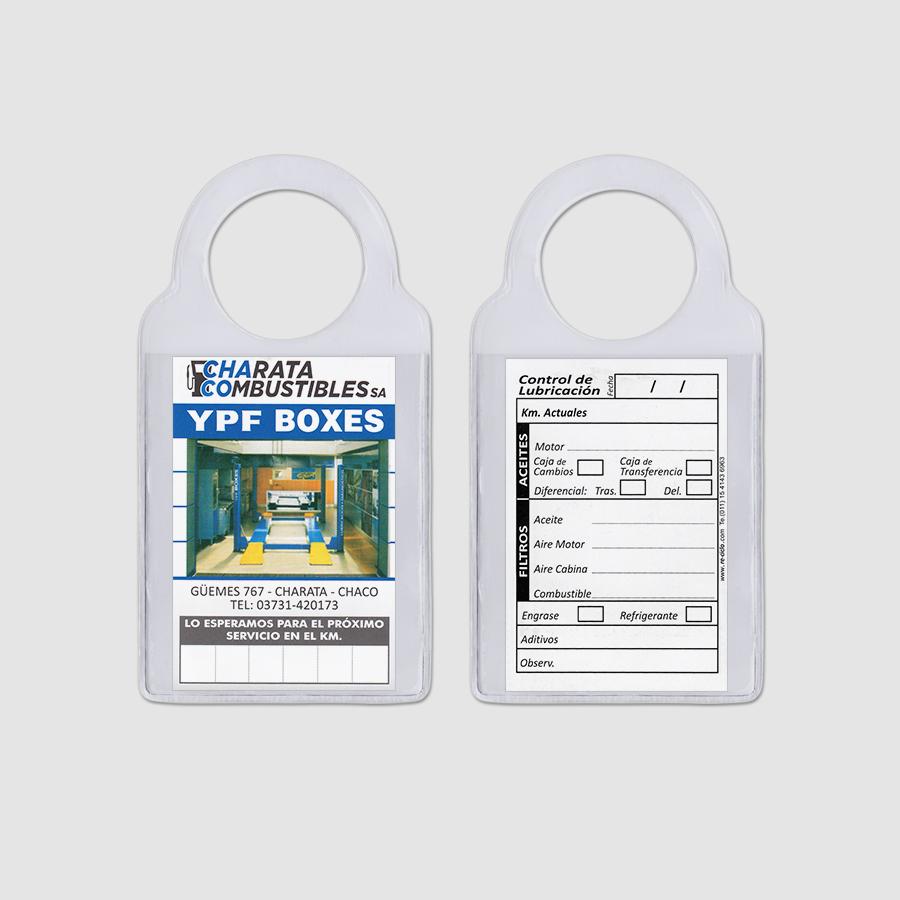Re-ciclo Tarjetas para Cambio de Aceite PVC Cristal - charata combustibles