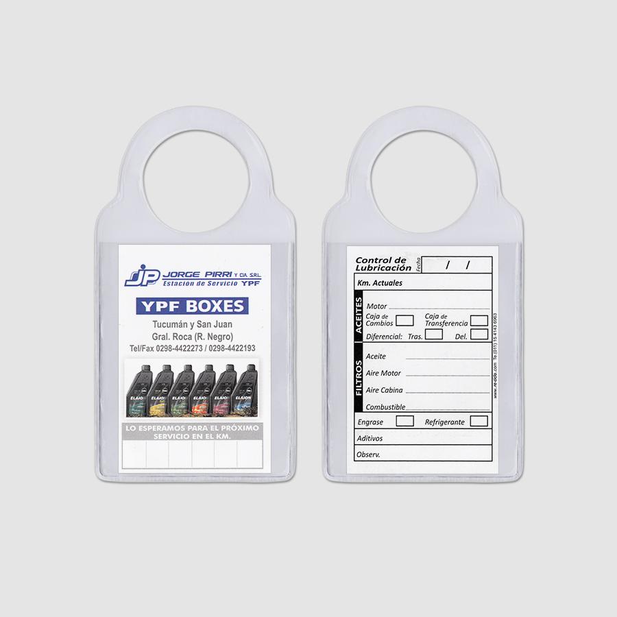 Re-ciclo Tarjetas para Cambio de Aceite PVC Cristal - jorge pirri