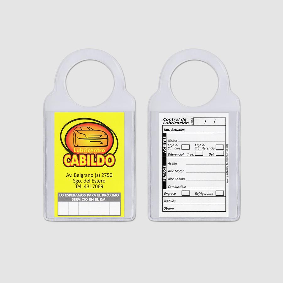 Re-ciclo Tarjetas para Cambio de Aceite PVC Cristal - lubricentro cabildo