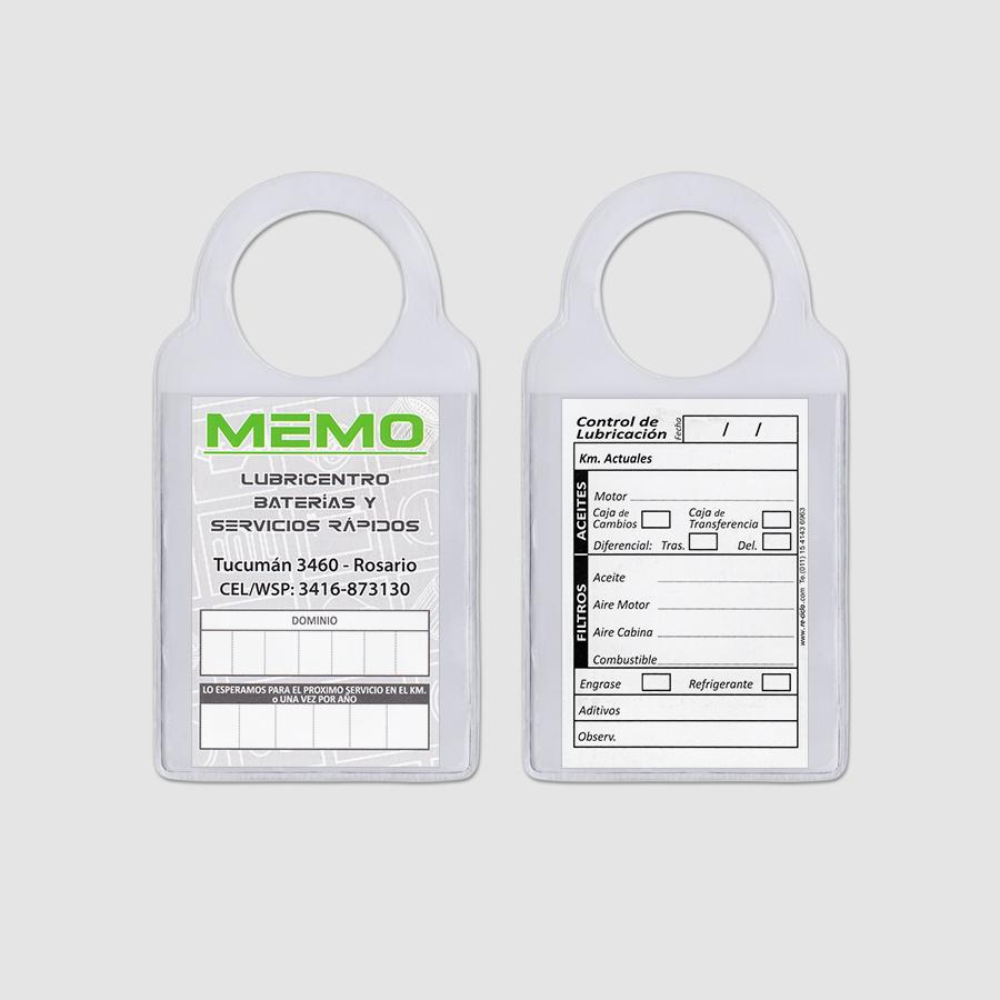 Re-ciclo Tarjetas para Cambio de Aceite PVC Cristal - memo lubricentro