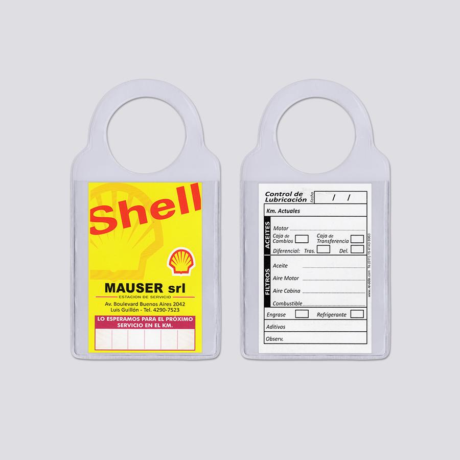 Re-ciclo Tarjetas para Cambio de Aceite PVC Cristal - shell mauser srl