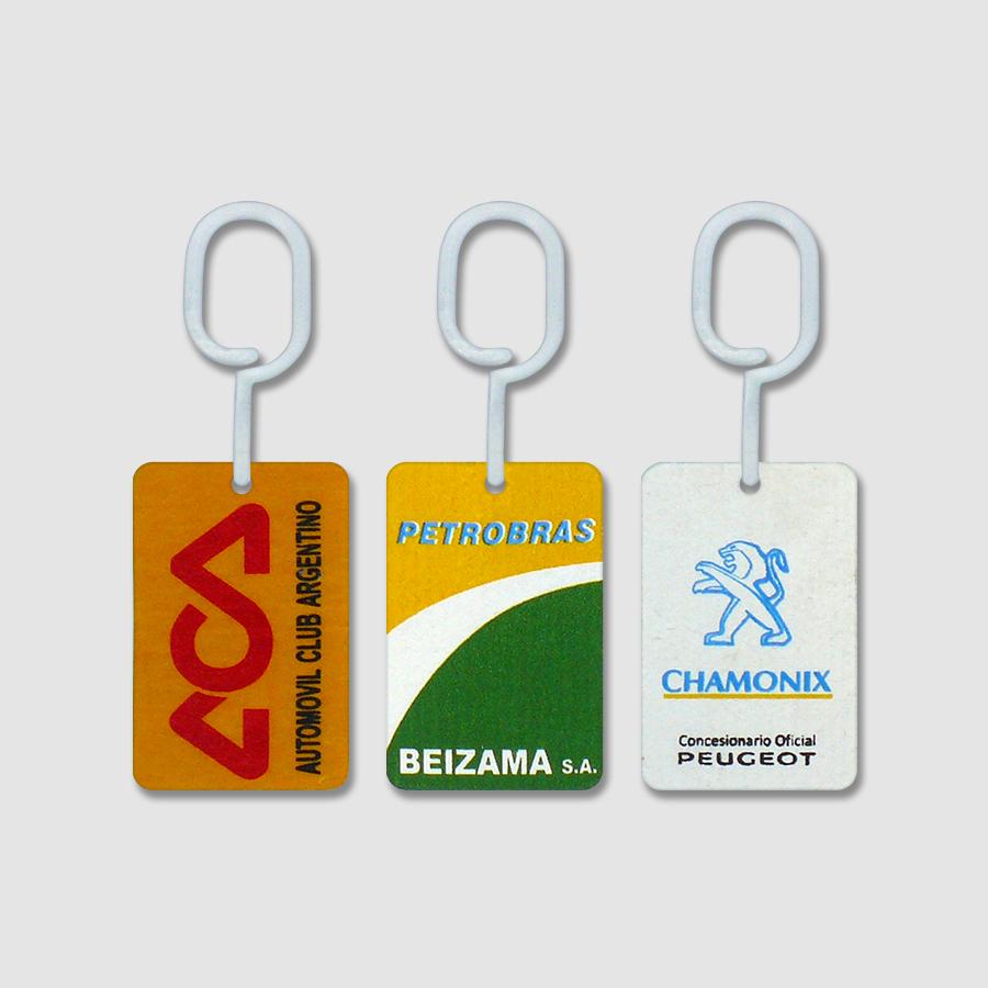 Tarjetas Perfumadas para Auto con Publicidad ACA - Petrobras - Chamonix