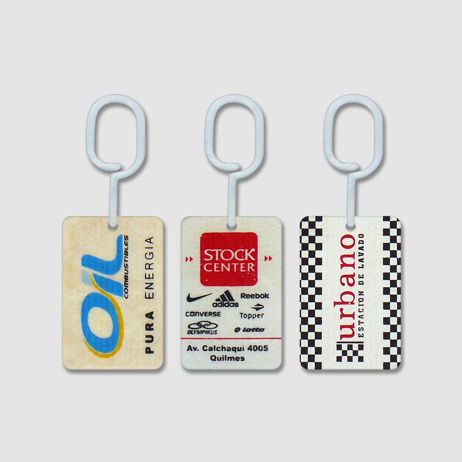 Tarjetas Perfumadas para Auto con Publicidad - Oil - Stock Center - Urbano
