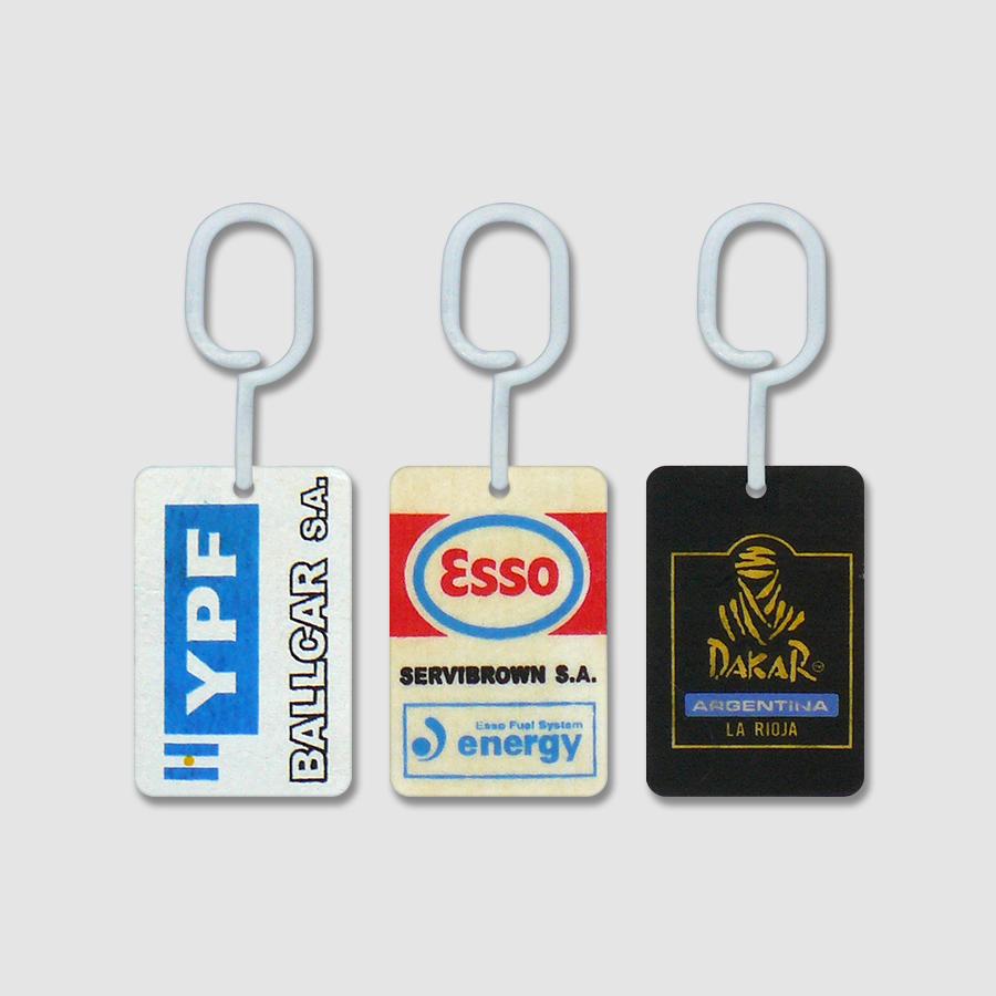Tarjetas Perfumadas para Auto con Publicidad - YPF - Esso - Dakar